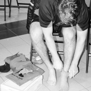 Walk a Mile 2014 Removing Socks