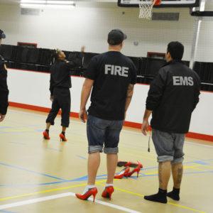 Walk a Mile EMS FIRE basketball